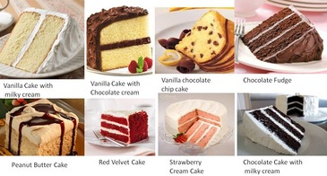 Cake Flavours - Image courtesy of cakesncupcakesng.com